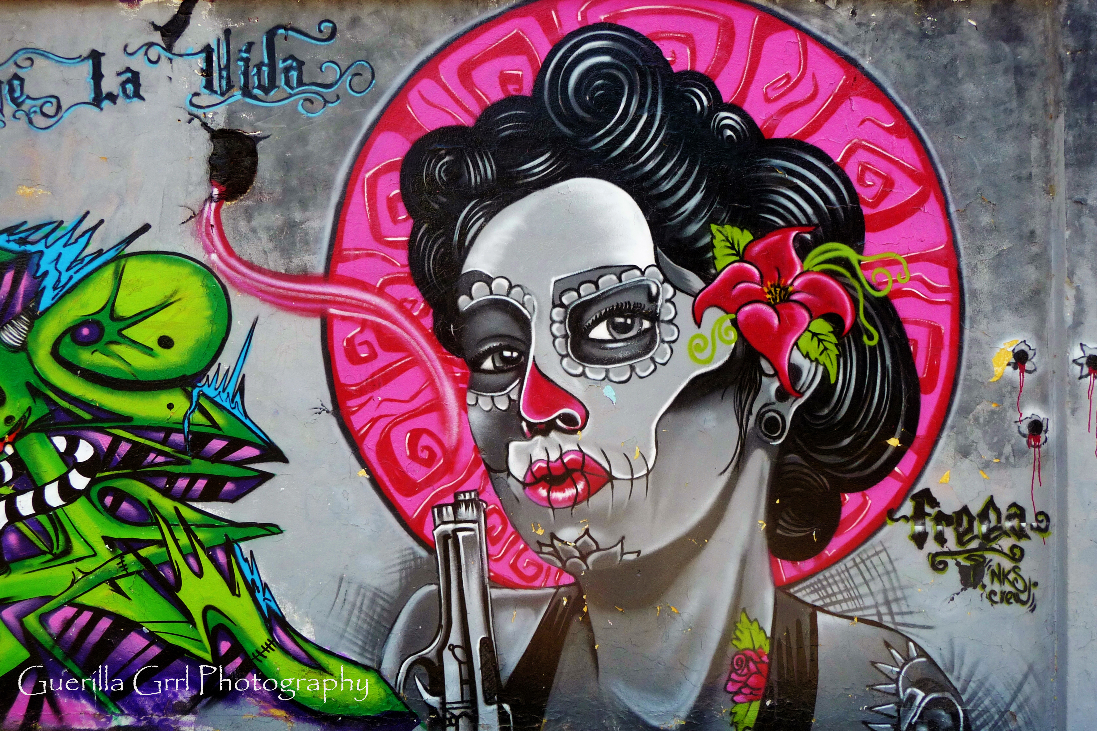 Day of the dead graffiti